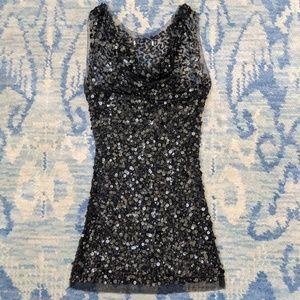 Sequin Sheer black Dress